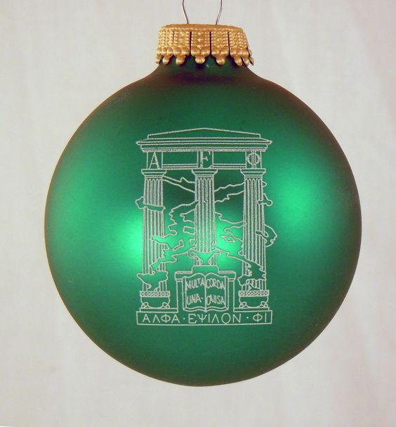 Alpha Epsilon Phi Sorority Greek Crest Holiday Ball Ornament available in Good Things From Louisiana, an ebay store.
