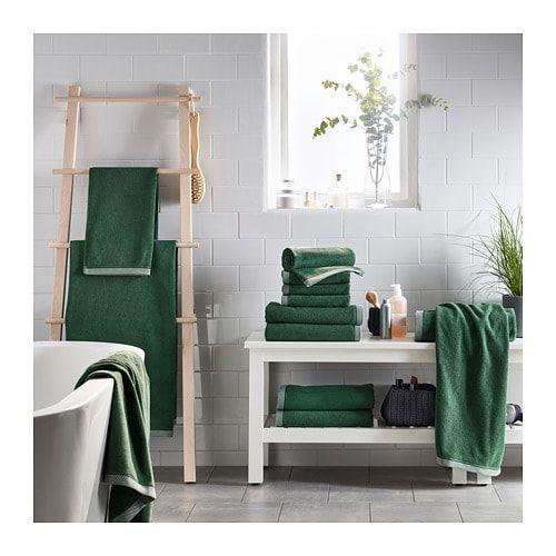Vikfjard Bath Towel Green Blue Towels Ikea Green Towels
