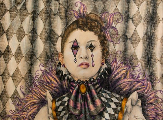 Harlequin Self Portrait By: Claudia Morell