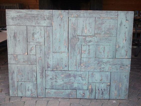 """""""oud"""" gemaakt hout. Te gebruiken als tafelblad, aan de wand of als tekstbord!"""