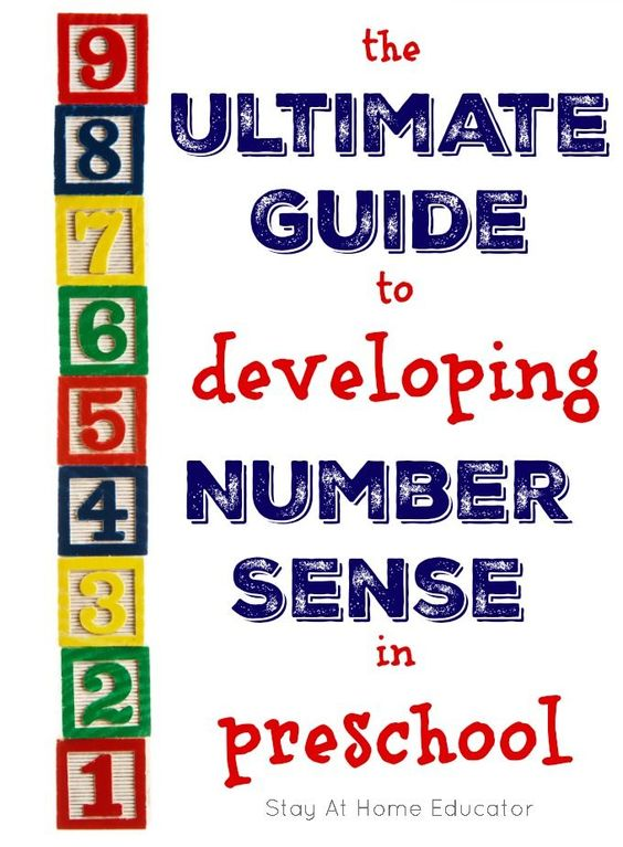 A great guide for developing number sense in preschool