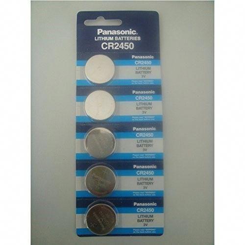 10pcs Panasonic Cr2450 3v Coin Lithium Battery Lithium Battery Home Home Security Systems Battery Lights Off Grid Batteries