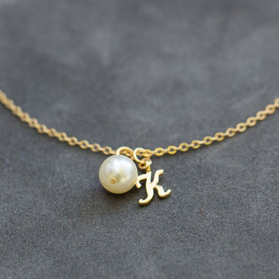 Bruidsmeisje armband Pearl & eerste sieraden door SprigJewelry