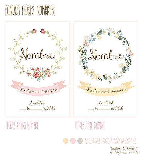 Recordatorios primera comuni n personalizados para ni as comuni n pinterest - Recordatorios de comunion para imprimir ...
