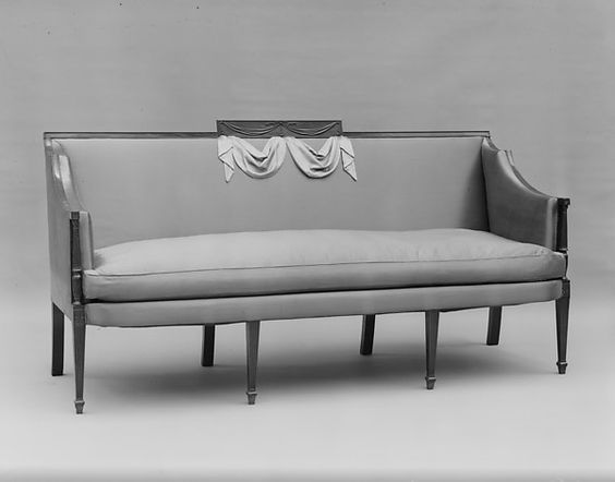 Sofa, 1800-1805. Made in New York, New York, United States. The Metropolitan Museum of Art, New York. Gift of the Members of the Committee of the Bertha King Benkard Memorial Fund, 1946 (46.67.90a-d)