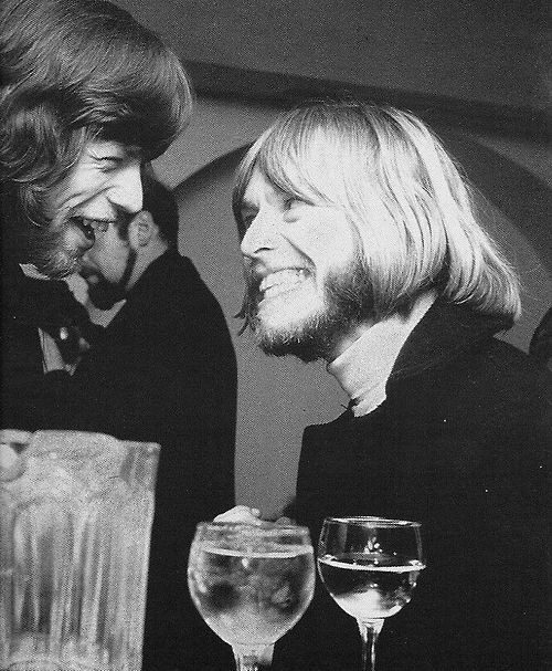 The Rolling Stones: Mick Jagger and Brian Jones...