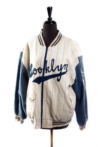 Brooklyn Dodgers 1955 World Series Baseball Jacket Reversable ...