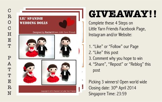 Little Yarn Friends Giveaway Ends April 30, 2014! Singapore time!