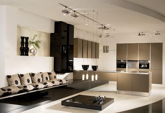 Stunning Braune K che von H cker Brown kitchen by H cker Kitchen Pinterest Braune K chen Braun und K cheninsel