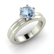 simple aquamarine engagement rings - Google Search