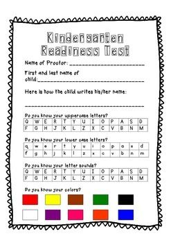 Enterprising image regarding kindergarten readiness assessment printable