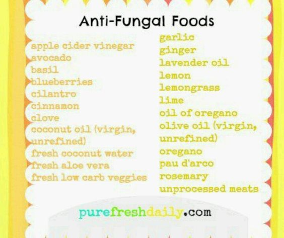 Anti Candida Diet List Of Foods