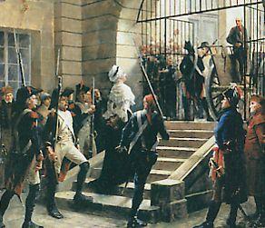 Marie-Antoinette quitte la Conciergerie pour l'échafaud, par Georges Cain (musée Carnavalet)