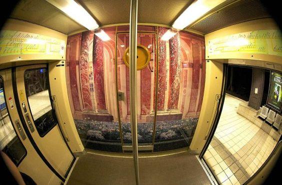 PARISIAN RER TRAIN TRANSFORMED INTO PALACE OF VERSAILLES REPLICA