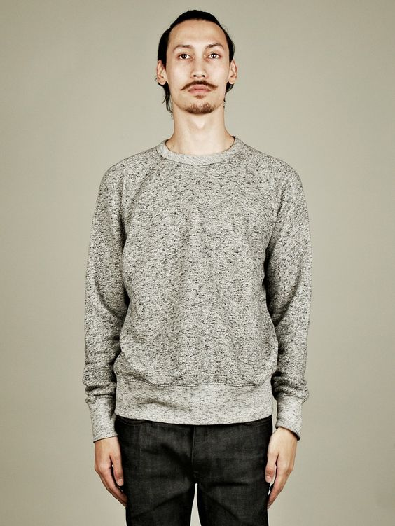 Our Legacy Men's 1950s Great Sweat in grey marl at oki-ni