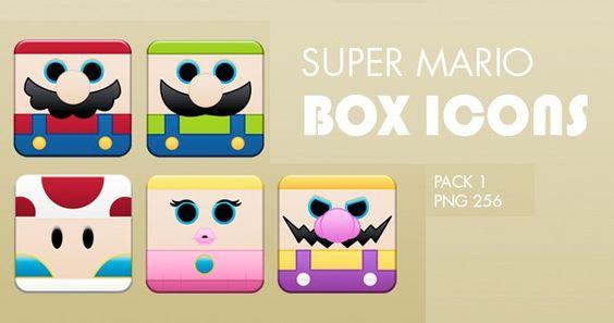 icon,mario icons,super mario box icons