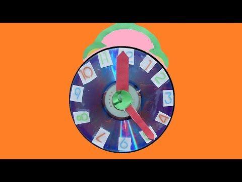 طريقة صنع ساعة بعقارب متحركة School Cartoon Diy Clock Clock