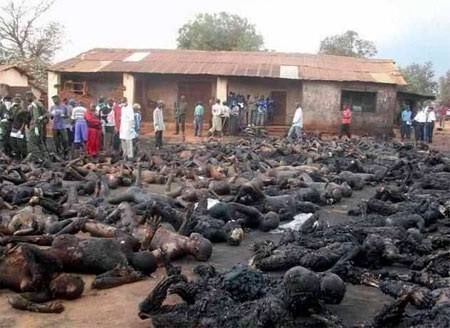 """This is what Islam does to Christians. Say no to any more """"refugees"""" coming to the U.S. Let the Muslim countries work it out. America is a Christian country. How many times must we be told that Islam wants to kill us."""