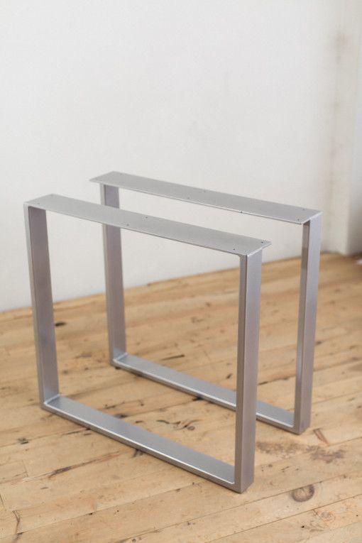 Powder Coated Steel U Shape Table Legs Factor Fabrication Table Legs Steel Dining Table Coffee Table Legs