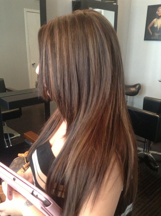 brunette with caramel highlights west palm beach hair