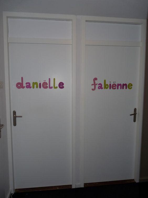 deurletters voor #kinderkamer  Creatief en knutselen  Pinterest