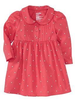 Pintucked dot dress | Gap