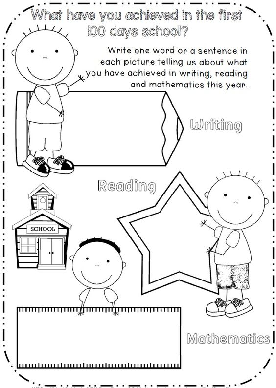 100th Day of School Printables – 100 Days of School Worksheets for Kindergarten