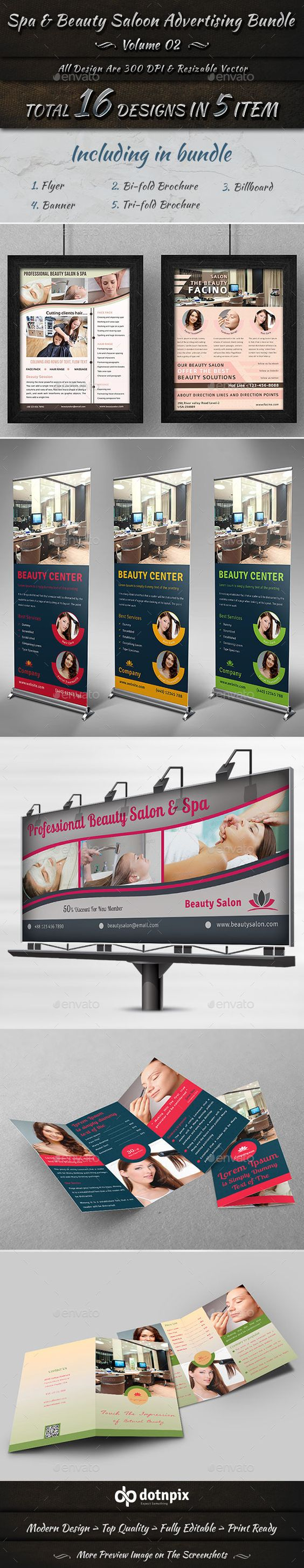 Spa & Beauty Salon Advertising Bundle | Volume 2