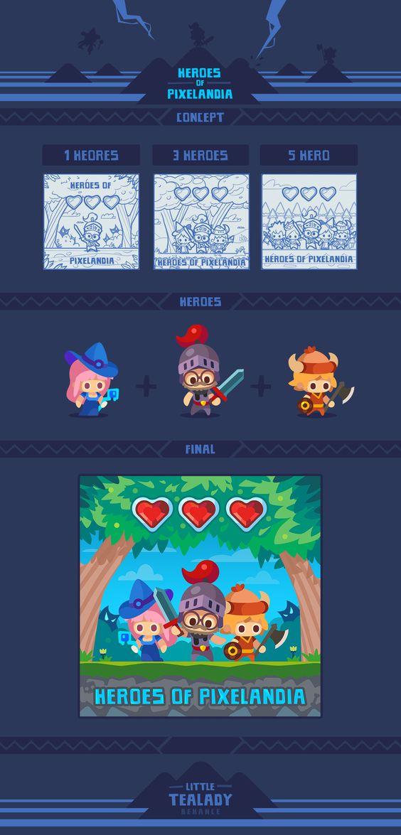 Heroes of Pixelandia on Behance