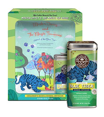 The Coffee Bean & Tea Leaf Official Store, Master Davey Set: Blue Tiger Tea & Book, Coffee Bean : Essentials : Gifts, 6877700030