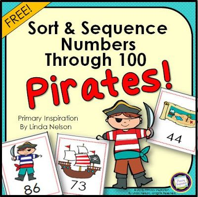 Number Activities for Pirates Day  Hi Teaching Friends! Talk Like a Pirate Day is on September 19th. Here's some math fun for your little mateys! Check the post to find links to more pirate freebies too ... because there's no such thing as too much pirates' bounty! ;)  Happy Teaching!  Linda Nelson pirate activities Pirate Day PreK--2 Primary Inspiration