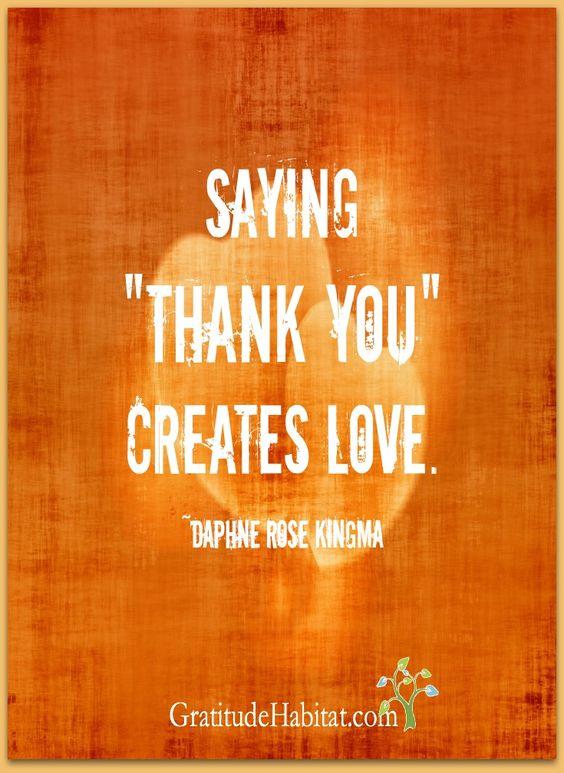 Create love.   Visit us at: www.GratitudeHabitat.com
