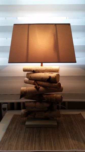 Tischlampen - Birken Lampe - Leuchte aus Birkenolz - ein Designerstück von baba101986 bei DaWanda