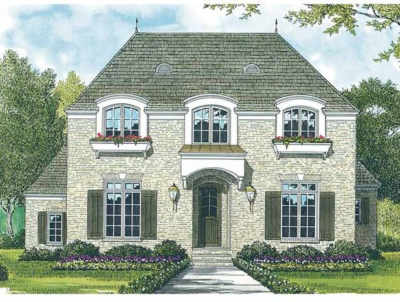French country house plans french country house and for Two story french country house plans