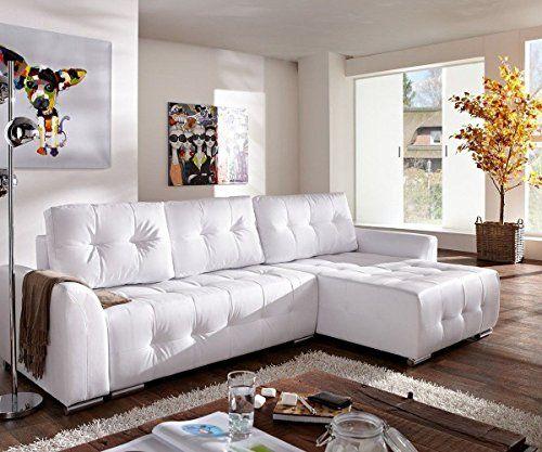 Couch Tania Weiss 295x170 Cm Mit Schlaffunktion Abgesteppt Ecksofa Jetzt  Bestellen Unter: Http:/