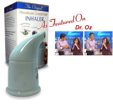 Himalayan Crystal Salt Inhaler -  Frequent inhaling of the microscopic salt…