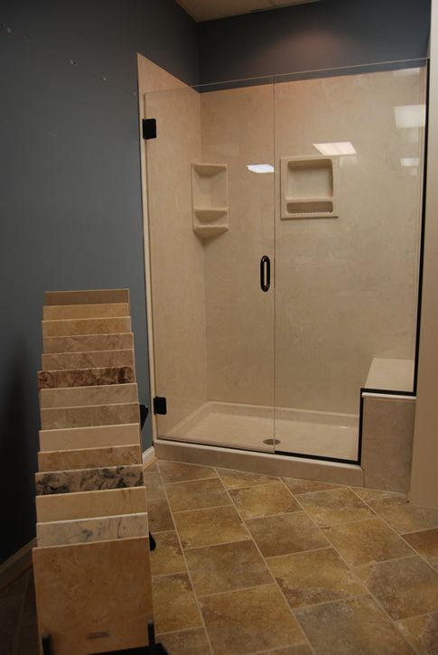 solid marble surround shower stalls