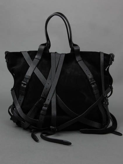 Suede Handbag With Multi Leather Laces and Two Handles - Alexander Wang//Kristen multi-strap suede shoulder bag - net-a-porter     £311.66