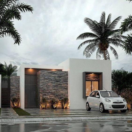Fachadas De Una Casa Pequena Frontis De Casas Fachadas De Casas Modernas Fachada De Casas Bonitas