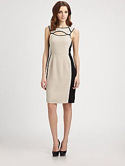 BCBGMAXAZRIA - Kelsee Colorblock Dress