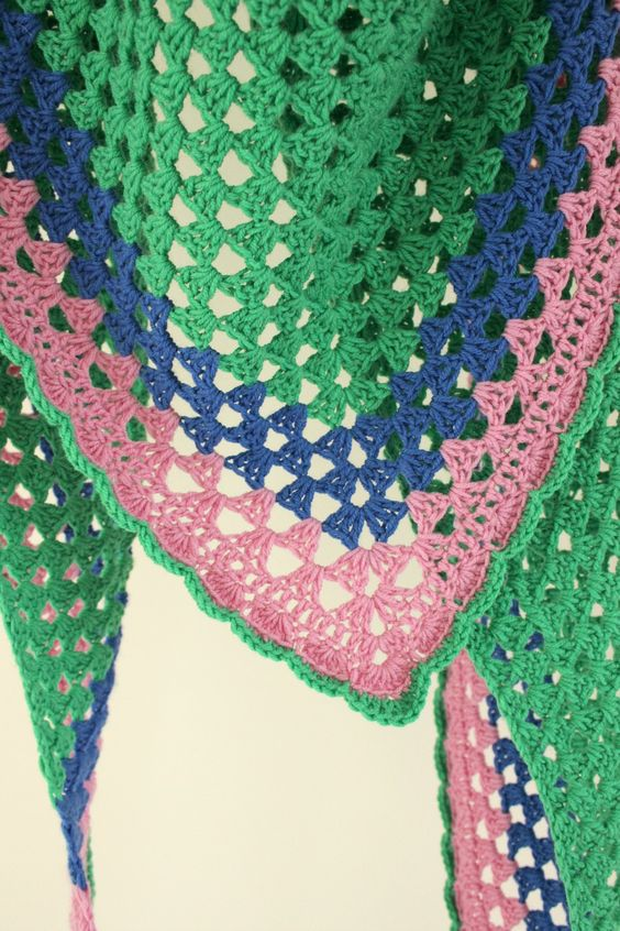 Simple Triangle Crochet Shawl Pattern : Another Granny Triangle Shawl! Simple, Free pattern and ...
