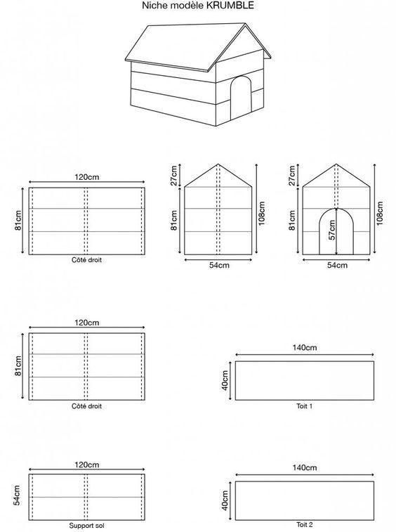 Fabrication niche pour chien pour les chiens pinterest - Plan fabrication niche chien ...