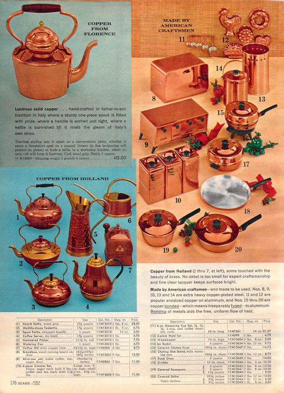 1962 Sears Christmas - Copper