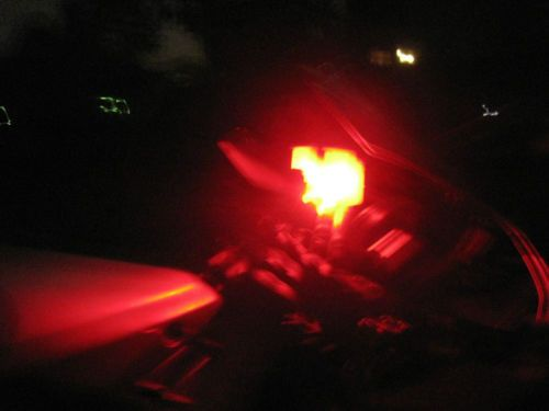 1 Red LED Accent Motorcycle Glow Street Bike Show Brake Coolant Reservoir Glow