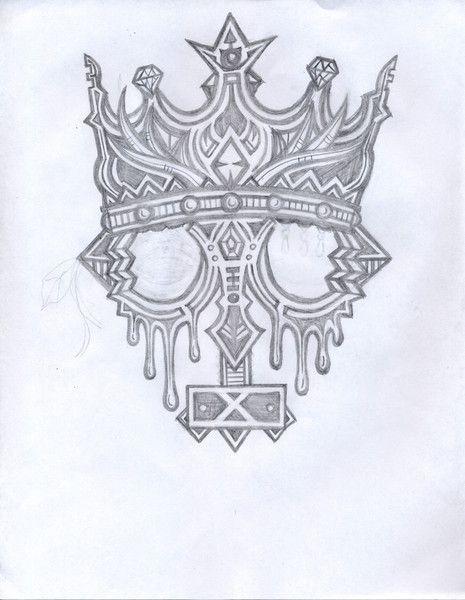 Crown Tattoo Line Drawing : Crown drawings imgkid the image kid has it
