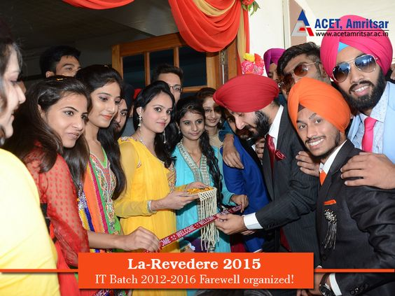 #Farewell for the #IT Batch 2012-2016, was organized at Guru Ram Das Auditorium, Amritsar by IT-5th semester students. Gracing the occasion was Chief #Guest, Dr. V.K Banga (Principal). Congratulations to the following Title #Winners:  ~ Ms. Subshi - Miss Farewell ~ Ms. Rajanpreet - Miss Charming ~ Ms. Ranjodhbir Kaur - Miss Well Dressed ~ Mr. Charanjot Singh - Mr. Farewell ~ Mr. Vishal Joshi - Mr. Handsome ~ Mr. Barinderjit Singh - Mr. Well dressed #ACET