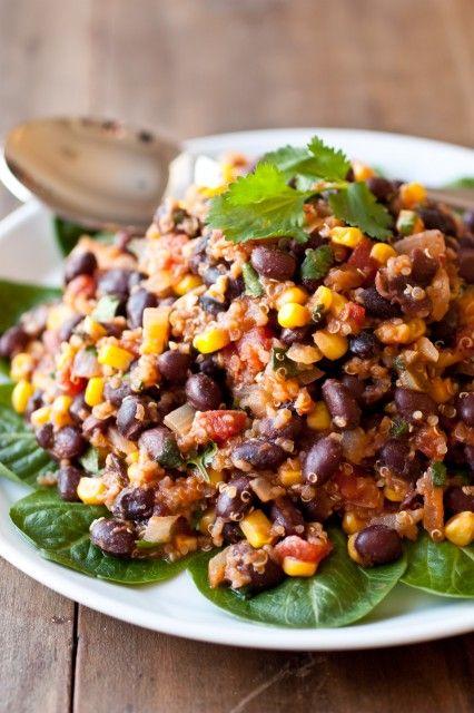 black bean tacos vegans black bean corn bean salads beans quinoa taco ...