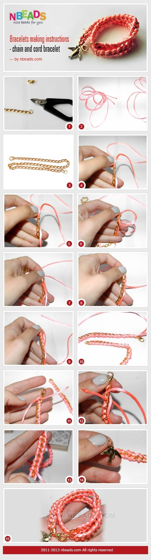 wrap Bracelet Instructions - Chain And Cord Bracelet – Nbeads