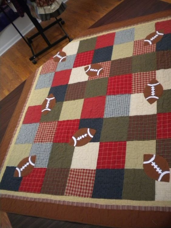 Quilt Patterns For Sports : Shops, Quilt and Sports quilts on Pinterest