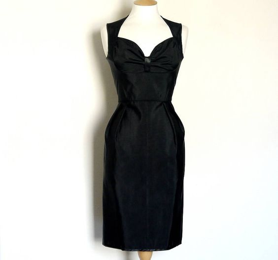 grosgrain bustier wiggle dress by dig for victory | notonthehighstreet.com  £160